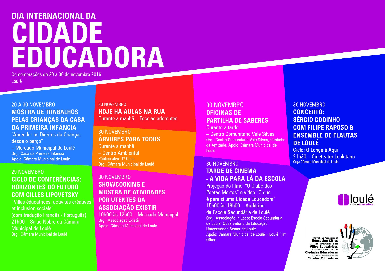 Cartaz - Dia Internacional da Cidade Educadora